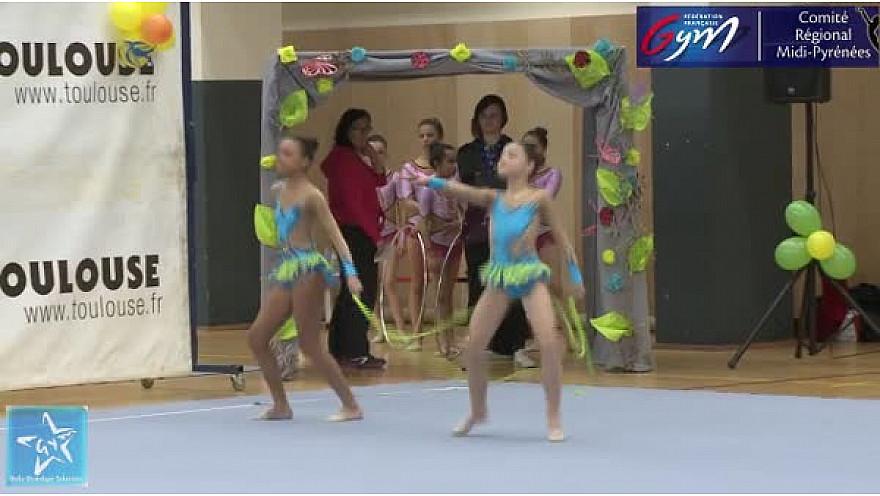 Gymnastique GR Trophée DUO 10-13 ans : le Duo de l'Etoile Gymnique de Colomiers se classe second