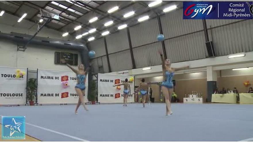 Gymnastique GR Trophée Fédéral B 17ans et moins : 1er l'ensemble de l'Etoile Gymnique de Colomiers